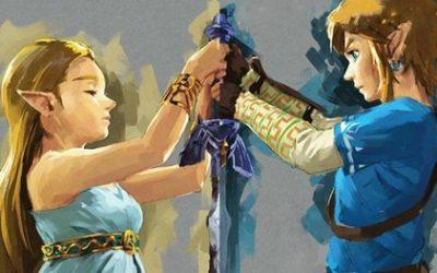 el enlace de link y Zelda